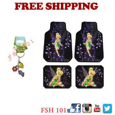 New Tinkerbell Mystical Flowers Car Truck Plastic Clear Floor Mats Key Chain