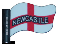 Newcastle Football Car aerial antenna topper St. George Cross Flag Topper