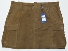 Ralph Lauren  Brown Suede/Leather  Mini Skirt  Size 8
