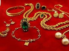 HUGE VINTAGE NAPIER COSTUME JEWELRY LOT OF 15 BRACELET NECKLACE EARRINGS RINGS