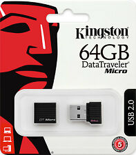 KINGSTON MICRO PENDRIVE USB 2.0 64GB CHIAVETTA PENNA 64 GB CHIAVE FLASH