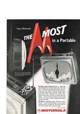 PUBLICITE ADVERTISING    1959   USA   MOTOROLA  téléviseur