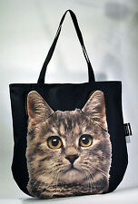 3D bag animal Cute & Unique Gift with BROWN MACKEREL TABBY CAT Handmade!