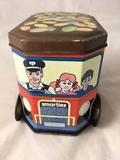 Vintage Smarties Deliveries Van Delivey Turning Wheels 1980s? Advertising Tin