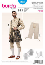 Burda 6888 Sew Pattern Renaissance Shakespear HenryVIII Men 36-50 Costume Patron