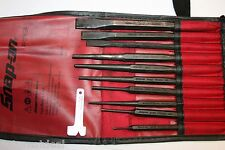 SNAP-ON TOOLS 11pc Punch and Chisel Set & Accessories in RED Kit Bag
