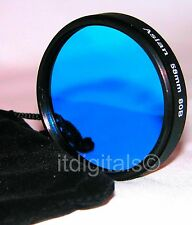 62mm 80B Blue Lens Filter B&W Color Film Digital 80-B 62 mm Circular Camera
