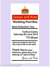Personalised royal mail Tall & Thin Post Box Wedding Card Box Wishing Well Sign
