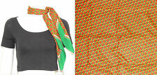 "Vintage 1980's Green Red White PATTERNED Head Neck Scarf 29.5"" X 29.75"""