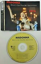Madonna – Don't Cry For Me Argentina  Cd Single Singolo