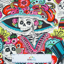 Alexander Henry Dia De La CATRINA Natural Day of the Dead Quilt Fabric by Yard