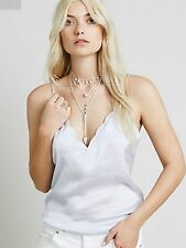 FREE PEOPLE Women's Satin Scallop Edge Camisole M NEW