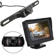 4.3'' TFT CCTV LCD Monitor +IR 135° Cámara de Marcha Atrás Visión Nocturna Coche