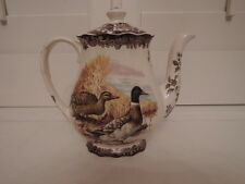 Vintage Royal Worcester Palissy Game Series Coffee Pot/Teapot Quails, Ducks
