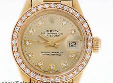 Rolex Oyster Perpetual Datejust Donna 18k Gold Diamond Watch Rolex Vintage