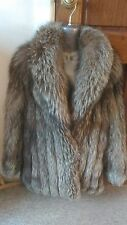 J14 new design 100% real silver fox fur coat