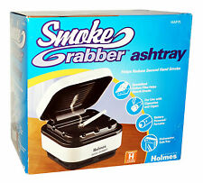 NEW! Holmes SMOKE GRABBER ASHTRAY Carbon Filter Helps Absorb Smoke PORTABLE NEW