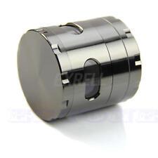 Metal 55mm 4 Piece Zinc Alloy Hand Crank Herb Mill Crusher Tobacco Smoke Grinder
