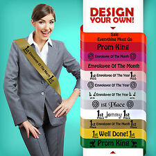 PERSONALISED SECRET SANTA CHRISTMAS PARTY STAFF NIGHT SASH FUN FUNNY GIFT !