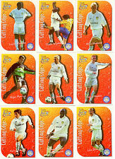 1999 Futera Fans Collection Cutting Edge EMBOSSED Team Set Leeds United (9)