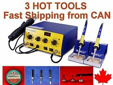 SMD Soldering ReWork Station HOT AIR & TWO IRONS 603D