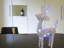 Xmas winter Reindeer 50cm tall 35cm long with  20 lights 3 AA batteries lounge