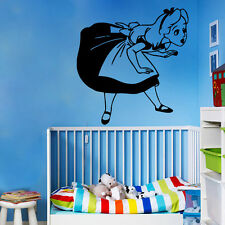 Wall Decal Alice In Wonderland Girls Room Vinyl Sticker Nursery Decor Art kk739