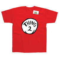 THING 2 INSPIRED BY DR SEUSS CAT IN THE HAT ADULTS T-SHIRT
