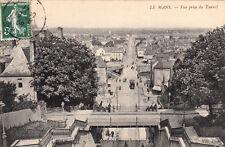LE MANS vue prise du tunnel timbrée 1908