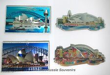 4 Australian Souvenir Sydney Magnets - Opera House Harbour Bridge Centrepoint