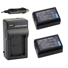 2x 1500mAh NP-FW50 Battery + Charger For Sony Alpha NEX-5N NEX-5R NEX-C3A/B