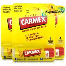 3x Carmex Classico originale, fare clic su stick Ultra Idratante Dry & chapped BALSAMO LABBRA