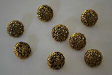 lot de petits boutons dorés vieilli semi bombés ajourés