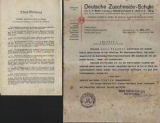 LEIPZIG, 2 Belege 1933, Deutsche Zuschneide-Schule C. H. Budde