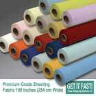 """Poly Cotton Premium Quality Bed Sheeting Plain Fabric 100""""/254 cm - Extra wide"""