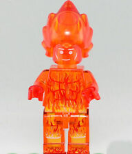 Human Torch minifigure figure w Lego Sticker toy limited Fantastic Four Marvel