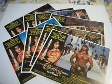 Conan the Destroyer  lobby card set  original 1984