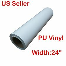 5 Yard x 24inch widt PU Vinyl for Heat Press Transfer & T-shirt Printing (White)