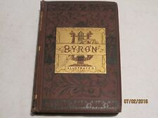 The Poetical Works of Lord Byron Book Illustrated Red Gilded 1880 jk144