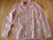 TOMMY HILFIGER schöne gestreifte Bluse mit Biesen rot weiß Gr. XL NEUw.  OS116