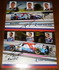 Le Mans 2016 - FIA WEC SMP Racing BR01 #36 & #37 Signed Card Set Vitaly Petrov