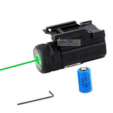Tactical Green Laser Sight Scope For Gun Pistol Picatinny Mount Glock S&W XD 40