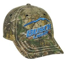 BUSCH LIGHT BEER LOGO REALTREE CAMO XTRA HUNTING ADJUSTABLE HAT CAP CAMOUFLAGE