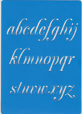 Plastic/PVC/Embossing/Stencil/Alphabet/Lower/Case/Bendy/REDUCED