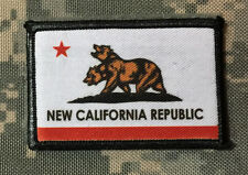 New California Republic Flag Morale Patch Tactical Brotherhood of steel Military