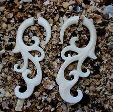 Fake Gauges earrings  Split expanders Tribal Cheater Expande faux gauge