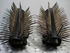 LEATHER GIANT LONG SPIKE GAUNTLETS.BLACK METAL...(MDLG0110).....KATHARSIS'S