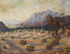 California Artist LEWIS  WOOD  PHYSIOC Desert Landscape Oil Painting LISTED ART