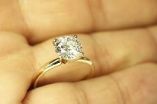 2.00 CT ROUND BRILLIANT CUT  SOLITAIRE ENGAGEMENT RING 14K YELLOW GOLD