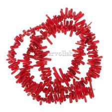 16 Zoll Rot Koralle Splitter Perlen Loose Beads DIY